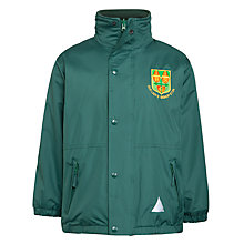 Buy Our Lady's Bishop Eton Primary School Reversible Waterproof Coat, Green Online at johnlewis.com