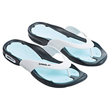 Buy Speedo Women's Pool Surfer Flip Flops, Grey/Blue Online at johnlewis.com