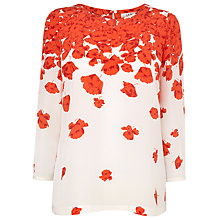 Buy L.K. Bennett Printed Lasa Top, Cream/Coral Online at johnlewis.com