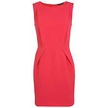 Buy Miss Selfridge Pleat Detail Dress, Raspberry Online at johnlewis.com