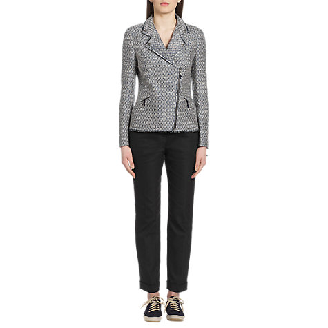 Buy Jigsaw Classic Pin Spot Trousers, Black Online at johnlewis.com
