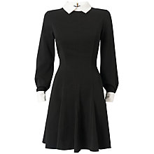 Buy Almari Sleeved Collar Dress, Black and White Online at johnlewis.com