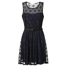 Buy True Decadence Lace Sweetheart Skater Dress, Navy Online at johnlewis.com