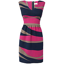 Buy Almari V-Neck Chunky Stripe Dress, Multi Online at johnlewis.com