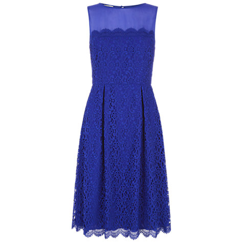 Buy Hobbs Invitation Marlena Dress, Bright Blue Mul Online at johnlewis.com