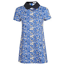 Buy True Decadence Contrast Collar Dress, Blue Print Online at johnlewis.com