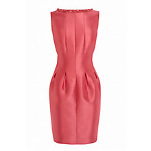 Buy Coast Telma Silk Mix Dress, Coral Online at johnlewis.com