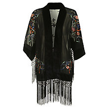 Buy True Decadence Vintage Inspired Kimono, Black Online at johnlewis.com