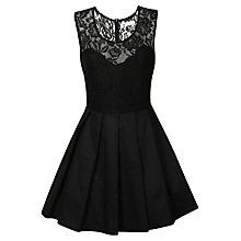 Buy True Decadence Pleated Prom Dress, Black Online at johnlewis.com