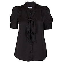 Buy Whistle & Wolf Bow Front Blouse, Black Online at johnlewis.com