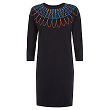 Buy NW3 by Hobbs Jenna Dress, Oxford Blue Mul Online at johnlewis.com
