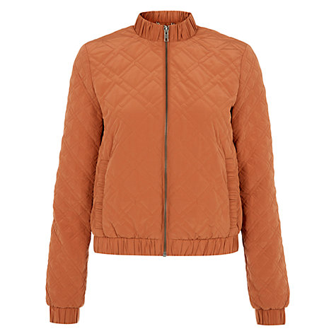 Buy NW3 by Hobbs Lola Bomber, Persian Orange Online at johnlewis.com