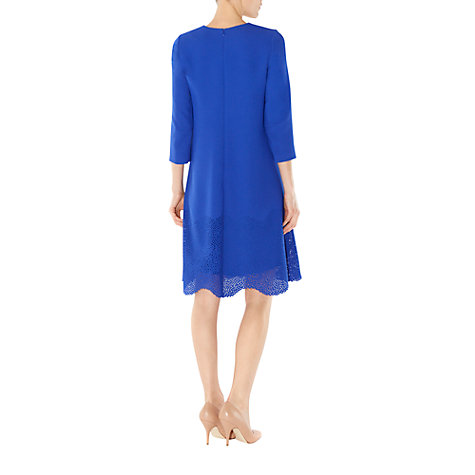 Buy Hobbs Invitation Winchester Dress, Bright Blue Online at johnlewis.com
