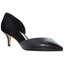 Buy Dune Catey Suede Court Shoes, Black Online at johnlewis.com