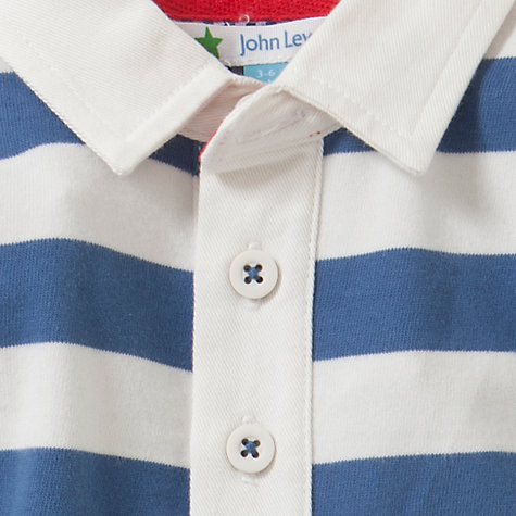 Buy John Lewis Stripe Rugby Polo Shirt, Blue/White Online at johnlewis.com