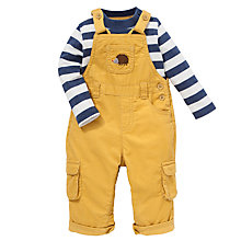 Buy John Lewis Dungarees & T-Shirt Set, Yellow Online at johnlewis.com