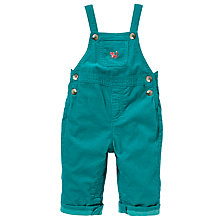 Buy John Lewis Fox Applique Cord Dungarees, Teal Online at johnlewis.com