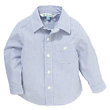 Buy John Lewis Ticking Stripe Cotton Shirt, Blue/White Online at johnlewis.com