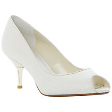 Buy Dune Decora Leather Peep Toe Court Shoes, Ivory Online at johnlewis.com
