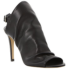 Buy Dune Black Hope Peep Toe Leather Sandals Online at johnlewis.com
