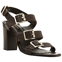 Buy Dune Black Liddia Buckled Strappy Heeled Sandals Online at johnlewis.com