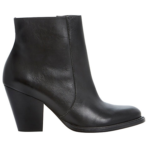 Buy Bertie Pemba Leather Ankle Boots, Black Online at johnlewis.com