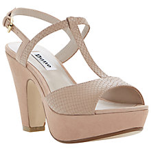 Buy Dune Flo Suede Stiletto Sandals, Pink Online at johnlewis.com