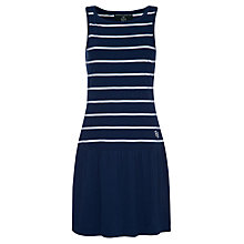 Buy Rampant Sporting Striped Jersey Dress, Collegiate Navy Online at johnlewis.com