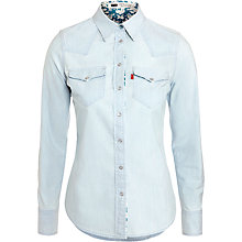 Buy Levi's Western Shirt, Light Blue Online at johnlewis.com