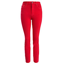 "Buy Dr Denim Croppa Cabana 30"" Jeans, Raspberry Online at johnlewis.com"