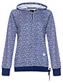 Rampant Sporting Flower Print Hooded Top, Navy Floral