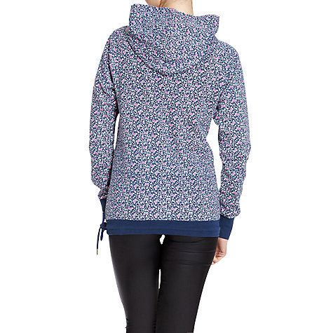 Buy Rampant Sporting Flower Print Hooded Top, Navy Floral Online at johnlewis.com