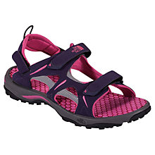 Buy The North Face Women's Hedgehog Sandal, Dark Eggplant Purple/Society Pink Online at johnlewis.com