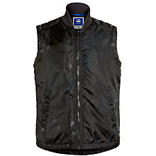 Buy G-Star Raw Padded Gilet, Black Online at johnlewis.com