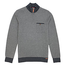 Buy Ted Baker Bevyhil Zipped Jersey Top, Grey Online at johnlewis.com