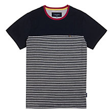 Buy Ted Baker Santmon Crew Neck T-Shirt, Navy Online at johnlewis.com