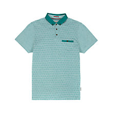 Buy Ted Baker Bluplan Jacquard Polo Top Online at johnlewis.com