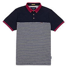Buy Ted Baker Sunnset Striped Polo Top, Navy Online at johnlewis.com