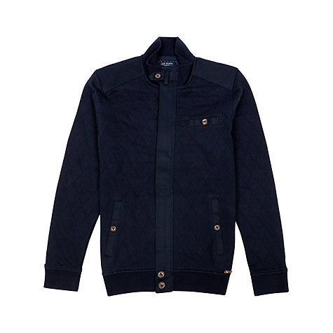 Buy Ted Baker Valylow Quilted Jacket, Navy Online at johnlewis.com