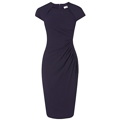 Buy L.K. Bennett Marina Fitted Dress, Dark Navy Online at johnlewis.com