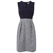 Buy L.K. Bennett Seta Fabric Block Dress, Cream Online at johnlewis.com