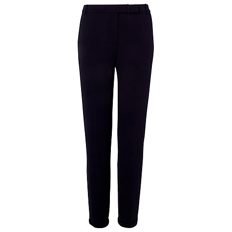 Buy L.K. Bennett Dalina Tapered Leg Trousers, Dark Navy Online at johnlewis.com