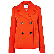 Buy L.K. Bennett Crato Pea Coat, Manderin Online at johnlewis.com