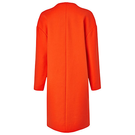 Buy L.K.Bennett Daytona Cocoon Coat, Mandarin Online at johnlewis.com