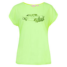 Buy Ted Baker Nessta Neon car Sketch Print T-Shirt, Bright Yellow Online at johnlewis.com
