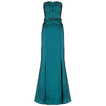 Buy Ariella Denise Stretch Taffeta Strapless Dress, Teal Online at johnlewis.com