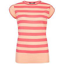 Buy Ted Baker Taiba Tulip Cap Sleeve Jumper, Bright Pink Online at johnlewis.com