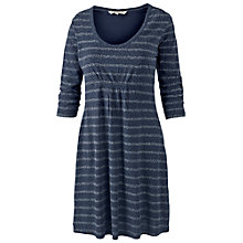 Buy Fat Face Dotty Stripe Dress, Navy Online at johnlewis.com
