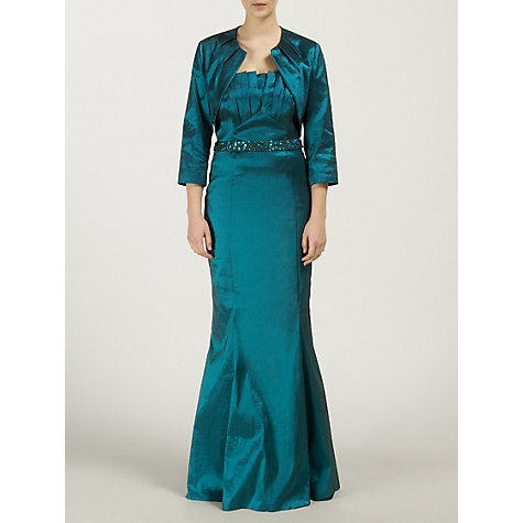 Buy Ariella Anna Taffeta Bolero, Teal Online at johnlewis.com