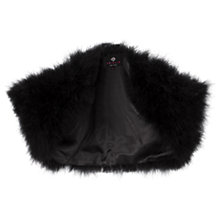 Buy Ariella Zizi Maribu Faux Feather Bolero, Black Online at johnlewis.com